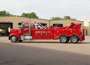 "25 Ton Wrecker - Century 7035 equipped with two 35k lb. winches and 128"" low-profile underlift - Burroughs Towing"